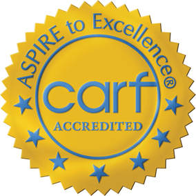 CARF International accreditation demonstrates a program's quality, transparency, and commitment to the satisfaction of the persons served. CARF International is an independent, nonprofit accreditor of health and human services.